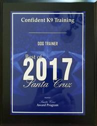 Redding Dog Trainer - Best of 2017 Award. Business Hall of Fame.